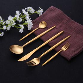 ROXY Cutlery Set Perlengkapan Makan Sendok Garpu Pisau Portuguese C29 - Black Gold - 5