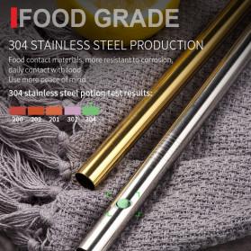 ROXY Cutlery Set Perlengkapan Makan Sendok Garpu Pisau Sedotan C99 - Silver - 6
