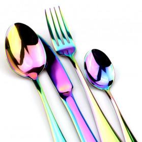 JANKNG Cutlery Set Perlengkapan Makan Sendok Garpu Pisau Western - JA - Multi-Color - 3