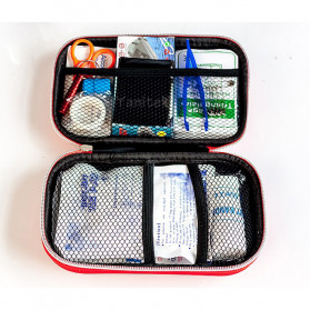 FervorFox Tas P3K First Aid Kit 18 in 1 - B33158 - Red - 2