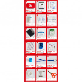 FervorFox Tas P3K First Aid Kit 18 in 1 - B33158 - Red - 9