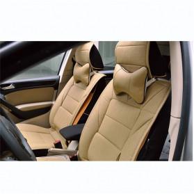 HLEST Bantal Leher Kursi Mobil Ergonomis Neck Pillow Headrest - SFAL - Black - 7