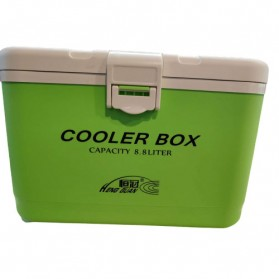 HENG GUAN Kotak Es Pendingin Camping Cooler Box 8.8 Liter - HG-019 - Green