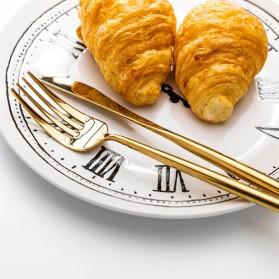 SPKLIFEY Cutlery Set Perlengkapan Makan Sendok Garpu Pisau Western - SPK4 - Golden - 3