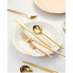 SPKLIFEY Cutlery Set Perlengkapan Makan Sendok Garpu Pisau Western - SPK4 - Golden - 5