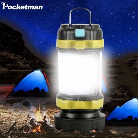 Pocketman Senter Lampu Lentera Camping Lantern T6 + 2835 + 20 Red LED - YY-260 - Black