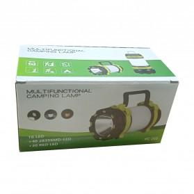 Pocketman Senter Lampu Lentera Camping Lantern T6 + 2835 + 20 Red LED - YY-260 - Black - 11