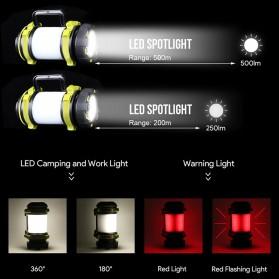 Pocketman Senter Lampu Lentera Camping Lantern T6 + 2835 + 20 Red LED - YY-260 - Black - 4