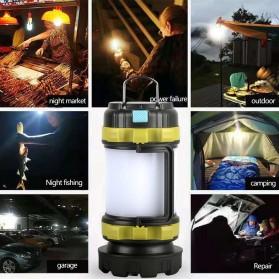 Pocketman Senter Lampu Lentera Camping Lantern T6 + 2835 + 20 Red LED - YY-260 - Black - 6