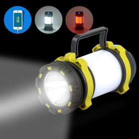 Pocketman Senter Lampu Lentera Camping Lantern T6 + 2835 + 20 Red LED - YY-260 - Black - 8