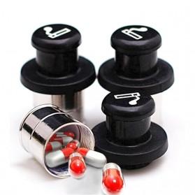 Ferrero Botol Obat Pill Car Cigarette Plug Hidden Pill Box Container - JS208 - Black - 6