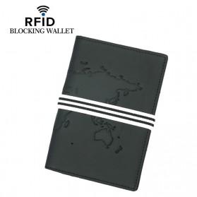 BUBM Dompet Kartu Anti RFID Bahan Kulit - TQ-228 - Black