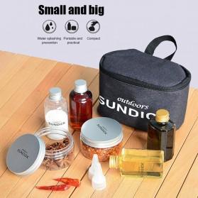 Sundiuuck Tas BBQ Kantung Botol Toples Bumbu Organizer Condiment Bottles - LMS33 - Black