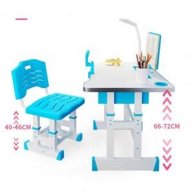 TaffHOME Meja Kursi Belajar Anak 46x70cm - WBP28 - Blue - 4