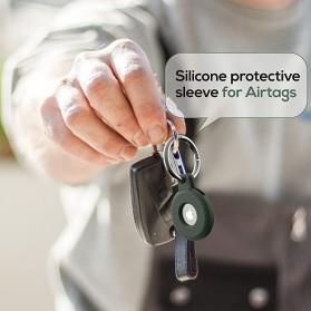 HISOKA Aksesoris Gantungan Bracket Silicone Holder Apple AirTag - HH01 - Black - 3