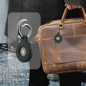 HISOKA Aksesoris Gantungan Bracket Silicone Holder Apple AirTag - HH01 - Black - 4