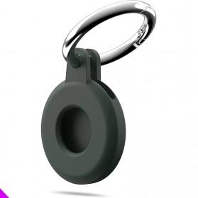 HISOKA Aksesoris Gantungan Bracket Silicone Holder Apple AirTag - HH01 - Black - 6
