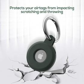 HISOKA Aksesoris Gantungan Bracket Silicone Holder Apple AirTag - HH01 - Black - 7