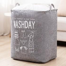TELYUAR Tas Laundry Lipat Folding Storage Organizer Bag 100L - TL100L - Gray