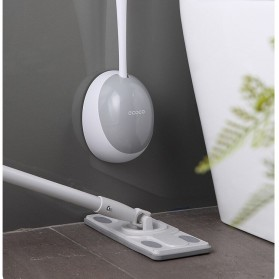 ECOCO Sikat Toilet WC Silicone Brush Wall Mounted - E2023 - Black - 6