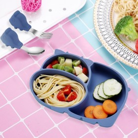 SILBABY Piring Makan Balita Divided Plate with Suction Cup Silicone BPA Free - 65405 - Pink - 2