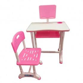 TaffHOME Meja Kursi Belajar Anak Minimalis 40 x 60cm - WBP19 - Pink