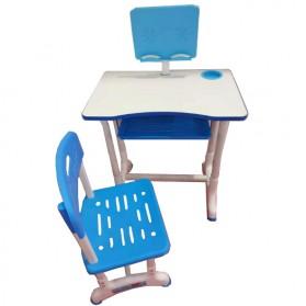 TaffHOME Meja Kursi Belajar Anak Minimalis 40 x 60cm - WBP19 - Blue