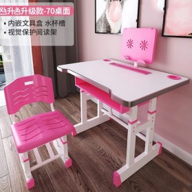 TaffHOME Meja Kursi Belajar Anak Minimalis 46 x 70cm - WBP20 - Pink