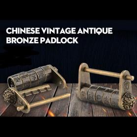 NAIERDI Gembok Antik China Retro Replika Kombinasi Huruf - AS-60 - Golden - 2