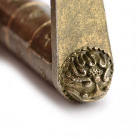 NAIERDI Gembok Antik China Retro Replika Kombinasi Huruf - AS-60 - Golden - 5