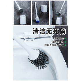 ONEUP Sikat Toilet WC Plastic Brush Wall Mounted - YW47 - White - 4