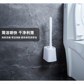 ONEUP Sikat Toilet WC Plastic Brush Wall Mounted - YW47 - White - 2
