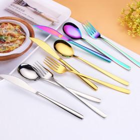 Tofok Cutlery Set Perlengkapan Makan Sendok Garpu Rainbow Cloth Bag 9PCS - T14 - Multi-Color - 3