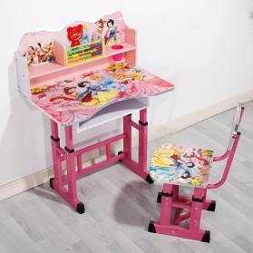 TaffHOME Meja Kursi Belajar Anak Motif Kartun Lucu 70 x 45 CM - WKL75 - Pink