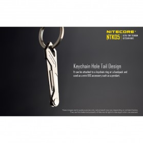 Nitecore EDC Pisau Mini Gantungan Kunci Keychain Knife Tools - NTK05 - Silver - 5