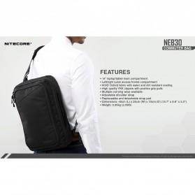NITECORE Tas Travel Commuter Sling Shoulder Bag - NEB30 - Black - 10