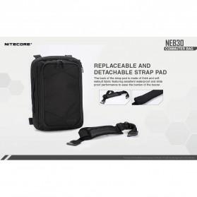 NITECORE Tas Travel Commuter Sling Shoulder Bag - NEB30 - Black - 6