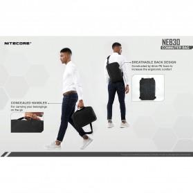 NITECORE Tas Travel Commuter Sling Shoulder Bag - NEB30 - Black - 8