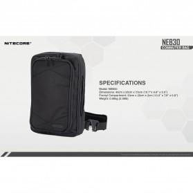 NITECORE Tas Travel Commuter Sling Shoulder Bag - NEB30 - Black - 9