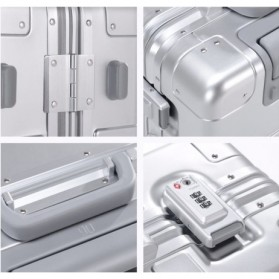 Xiaomi RunMi 90 Points Metal Suitcase Koper 20 inches - Silver - 7