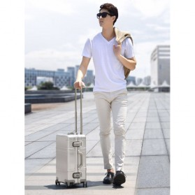 Xiaomi RunMi 90 Points Metal Suitcase Koper 20 inches - Silver - 8