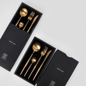 Xiaomi Maison Maxx Cutlery Set Perlengkapan Makan Sendok Garpu Pisau - Golden