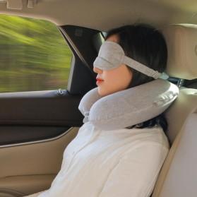Xiaomi Mijia 8H Bantal Leher U Shape Memory Foam Neck Pillow - Beige - 3