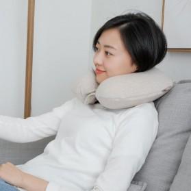 Xiaomi Mijia 8H Bantal Leher U Shape Memory Foam Neck Pillow - Beige - 6