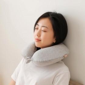 Xiaomi Mijia 8H Bantal Leher U Shape Memory Foam Neck Pillow - Beige - 8
