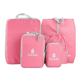 BUBM Tas Travel Bag in Bag Organizer 5 in 1 - T5JTX - Pink - 1