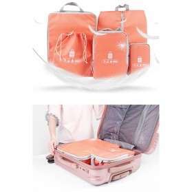 BUBM Tas Travel Bag in Bag Organizer 5 in 1 - T5JTX - Pink - 2