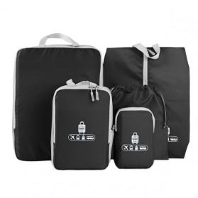 BUBM Tas Travel Bag in Bag Organizer 5 in 1 - T5JTX - Black