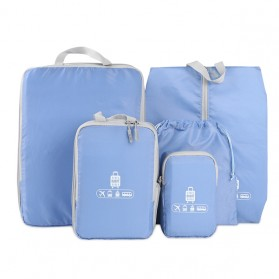 BUBM Tas Travel Bag in Bag Organizer 5 in 1 - T5JTX - Blue