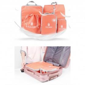 BUBM Tas Travel Bag in Bag Organizer 5 in 1 - T5JTX - Blue - 2